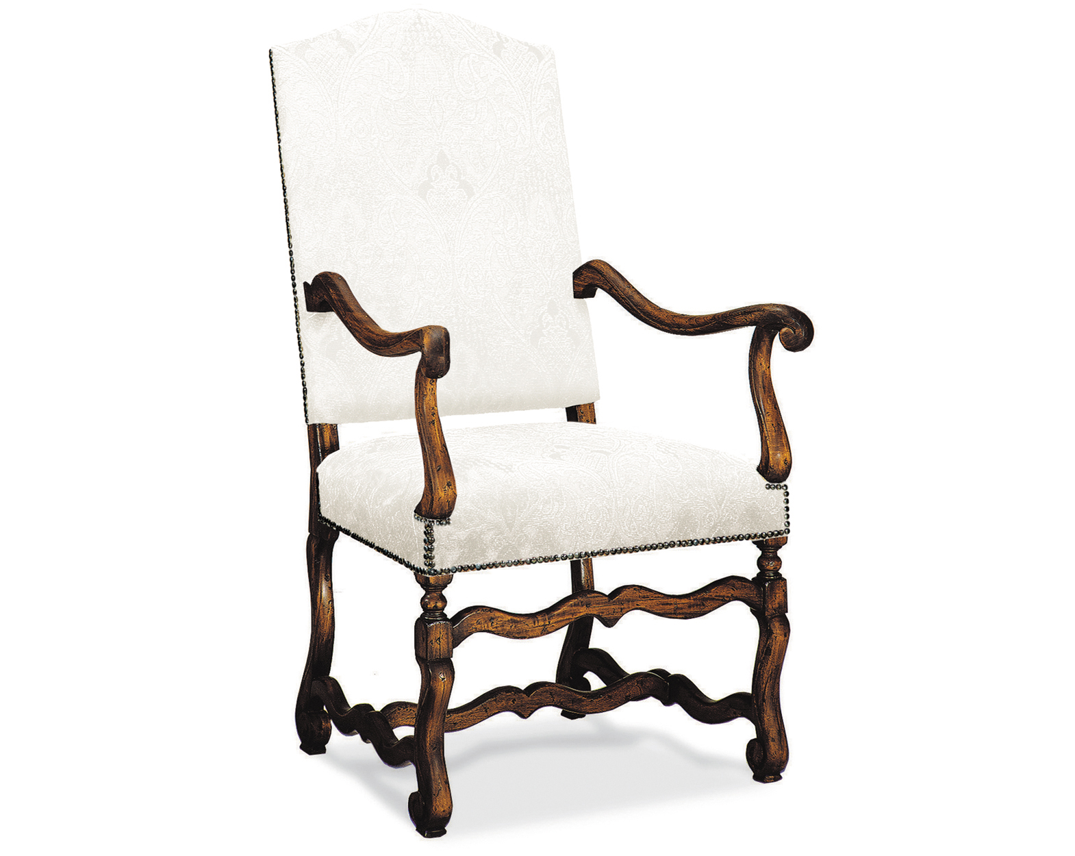 LOUIS XIII GALLATIN ARM CHAIR