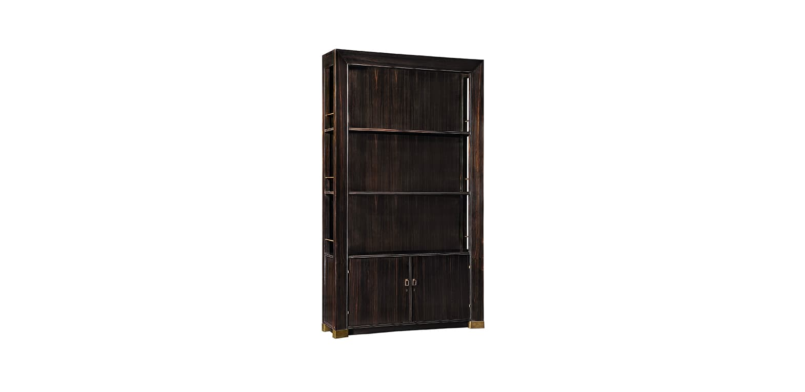 METZ EBONY ETAGERE WITH DOORS