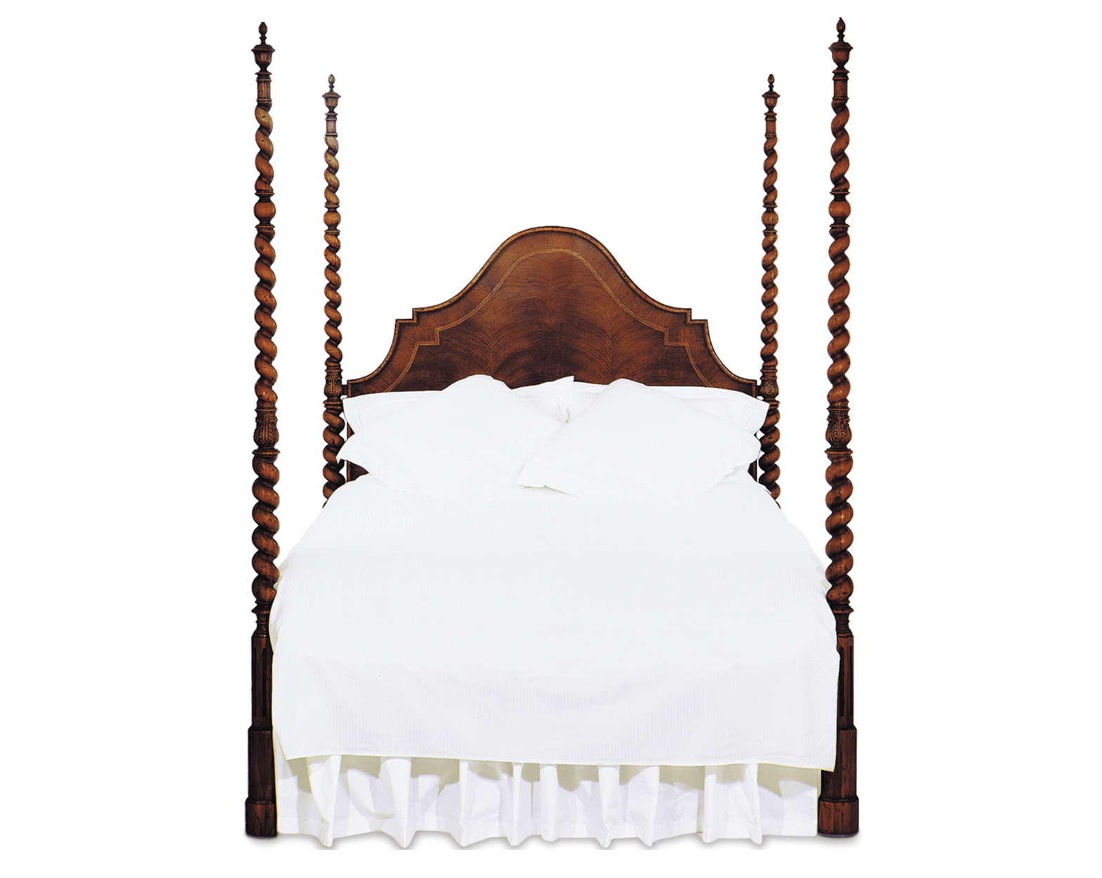 MALLORQUINA II BED WITH WALNUT HEADBOARD QUEEN